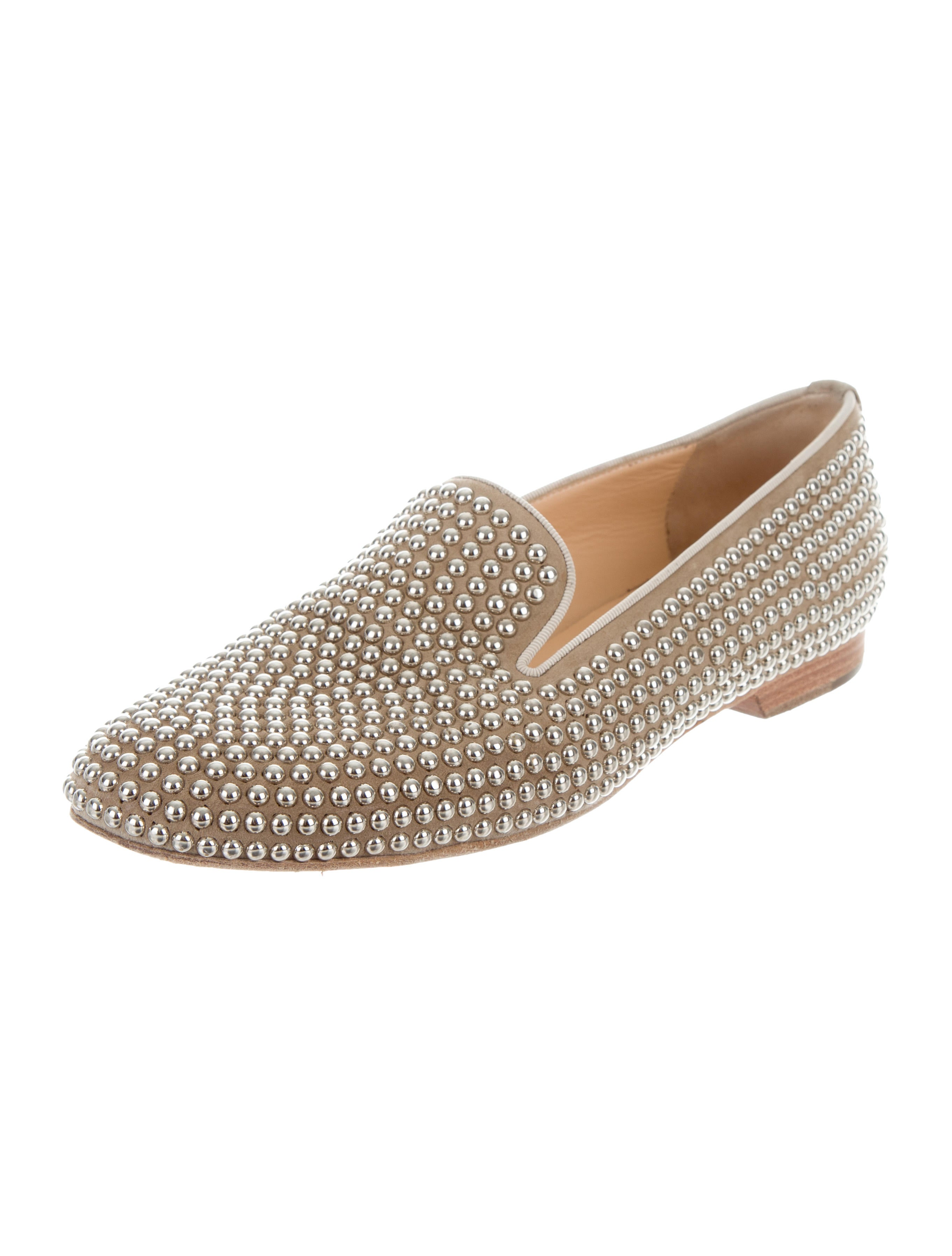 Christian Louboutin Shoes Studded Toes Flats