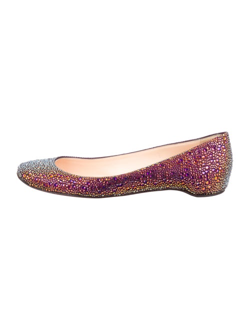 700fa7acb58 Christian Louboutin Gozul Strass Flats - Shoes - CHT82762 | The RealReal