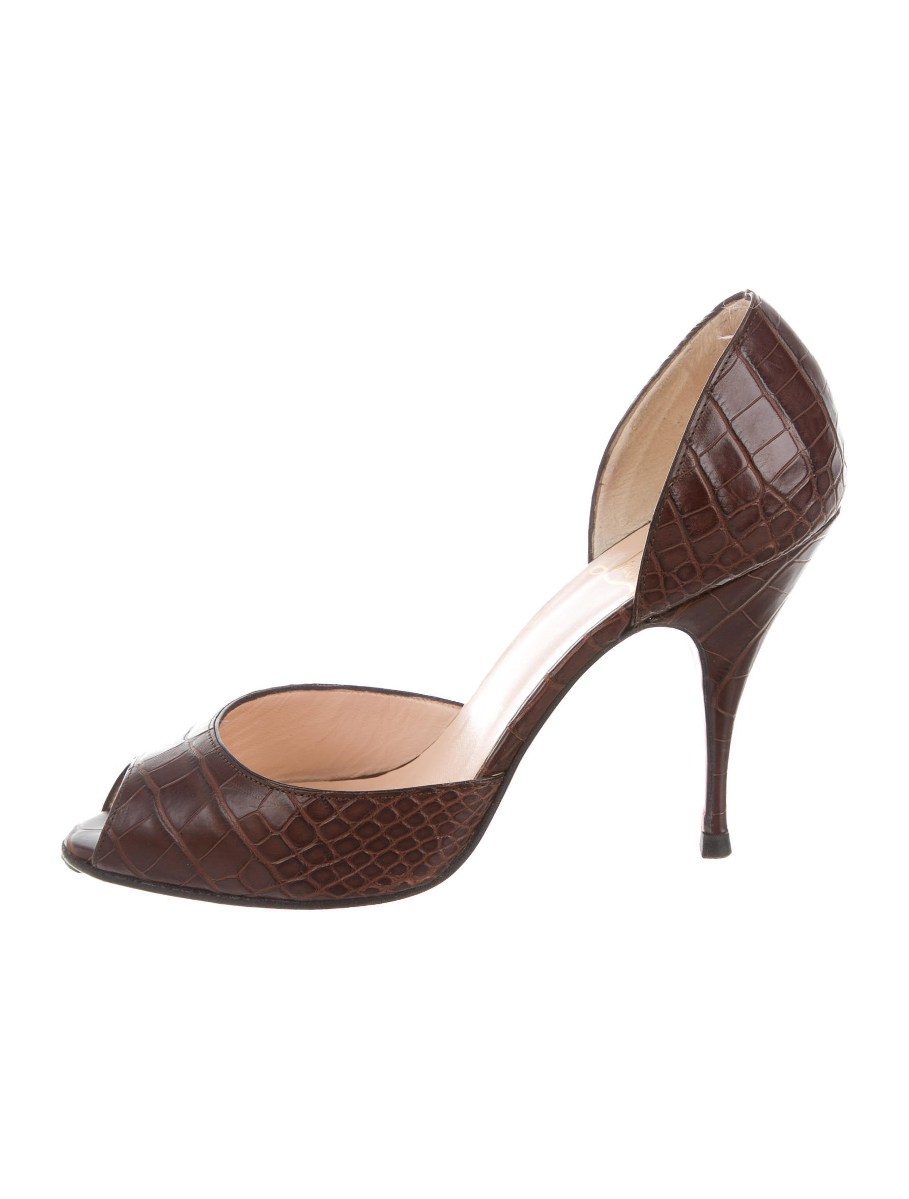 Christian Louboutin Alligator d'Orsay Pumps from china sale online buy cheap ebay clearance for sale wHFcJD