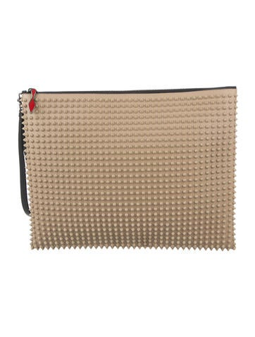 Christian Louboutin Spiked Peter Pouch None