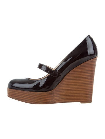 Christian Louboutin Patent Leather Platform Wedges None