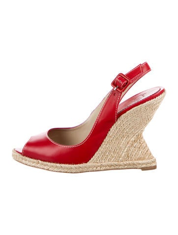 Christian Louboutin You Love 120 Espadrille Wedge Sandals None
