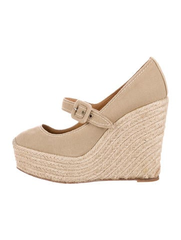 Christian Louboutin Platform Espadrille Wedges None
