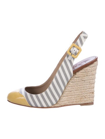 Christian Louboutin Leather Espadrille Wedges None