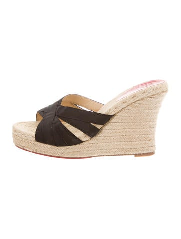 Christian Louboutin Espadrille Wedges Sandals None