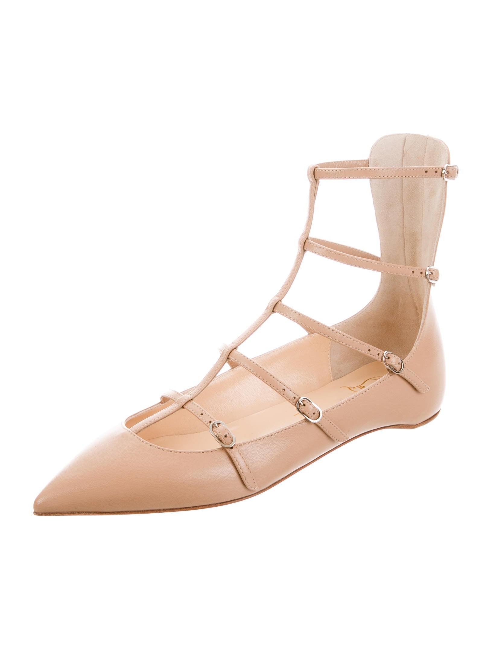 Christian Louboutin Toerless Leather Flats w/ Tags buy cheap good selling cheap sale pre order k0zV30