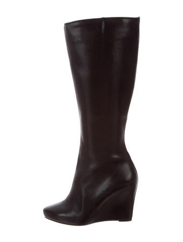 Christian Louboutin Leather Wedge Boots None