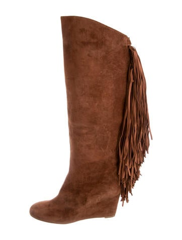 Christian Louboutin Pouliche Fringe Boots None