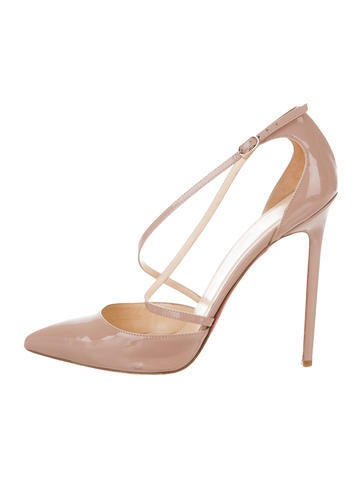 Christian Louboutin Patent Leather Crossover Pumps None