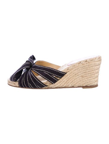 Christian Louboutin Suede Espadrille Sandals None