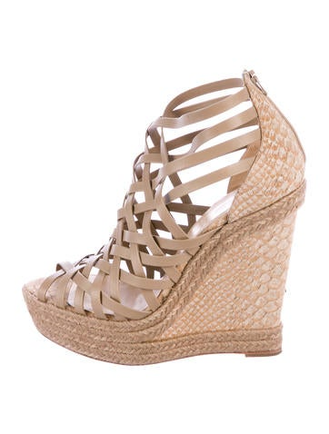 Christian Louboutin Tramontagne Platform 140 Wedges None