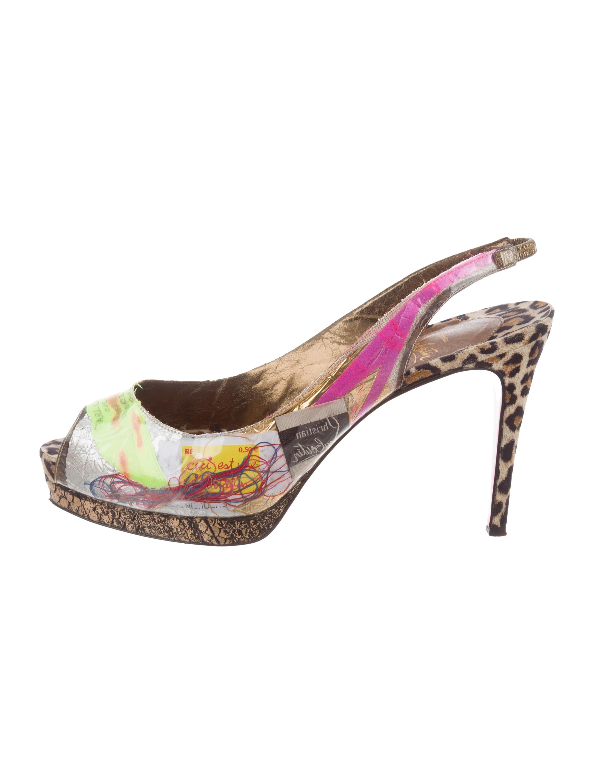 6c18a908934 Christian Louboutin Winter Trash 100 Python-Trimmed Pumps - Shoes ...
