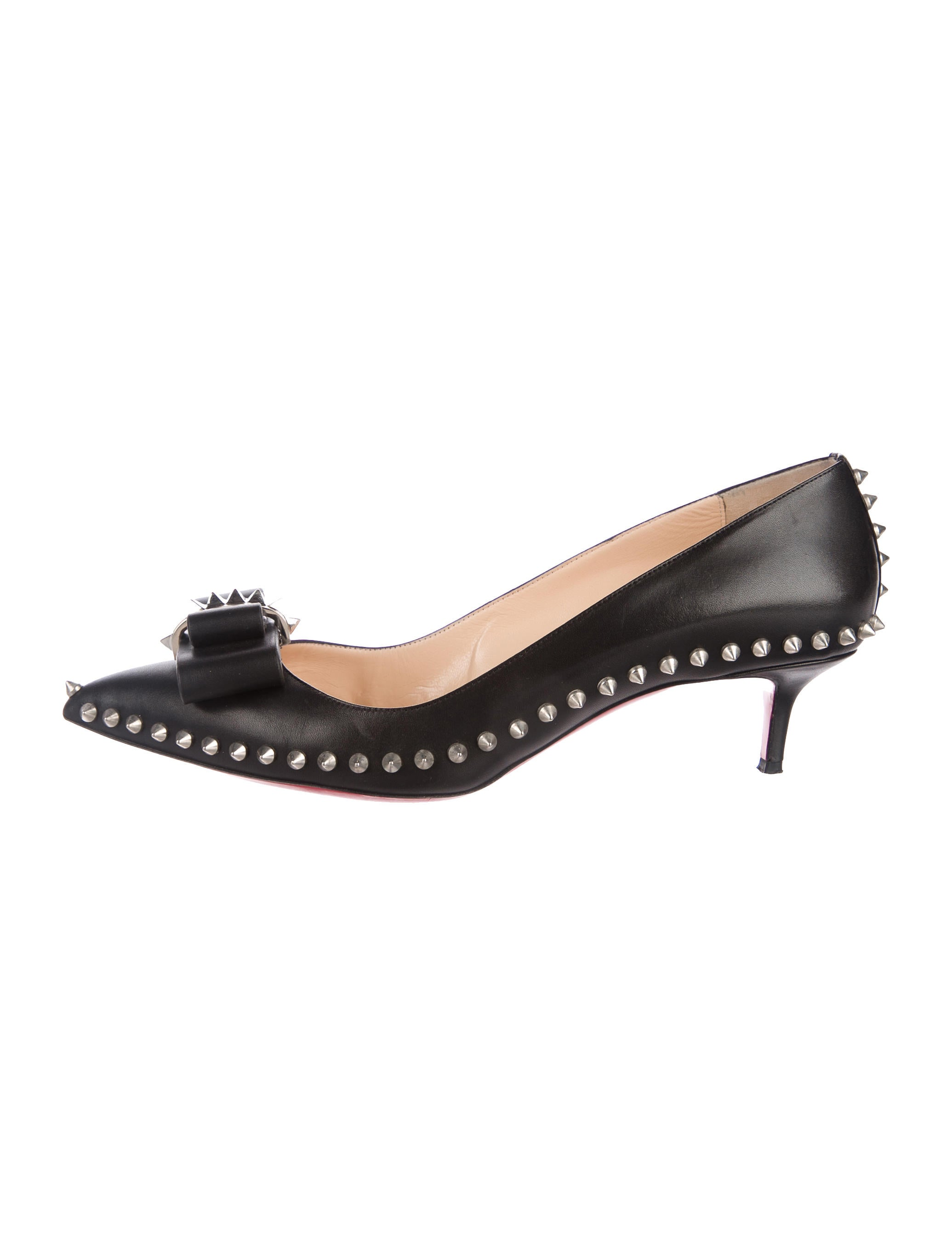 sports shoes 0c4ef 45846 Christian Louboutin Lucifer Bow Pumps - Shoes - CHT86270 ...