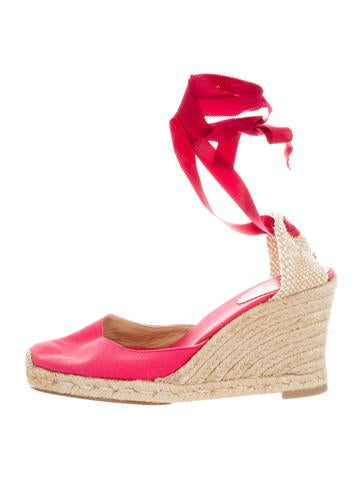 Christian Louboutin Canvas Espadrille Wedges None