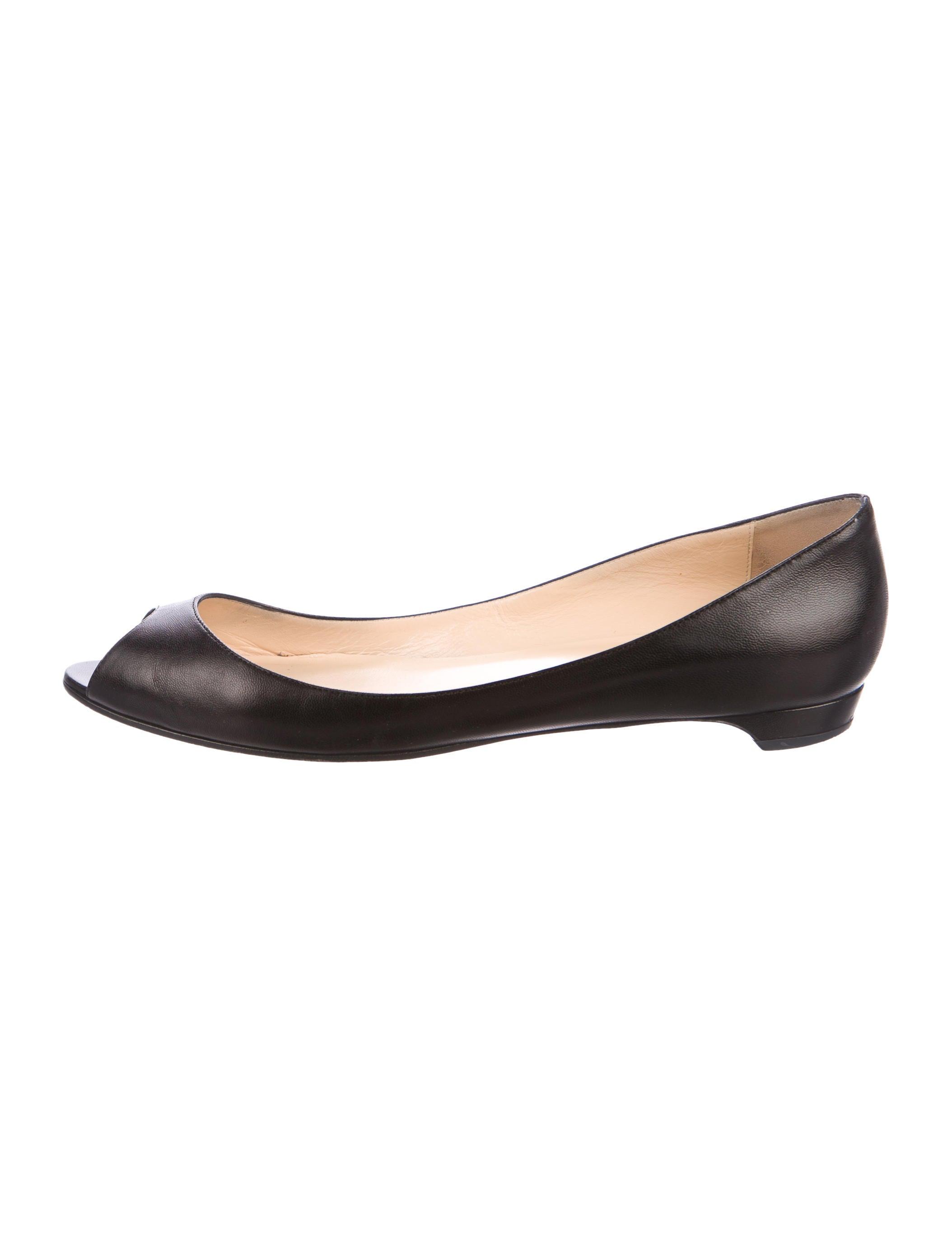 00b30e770ee4 Christian Louboutin Mumbai Peep-Toe Flats - Shoes - CHT86389
