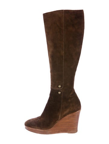 Christian Louboutin Knee-High Wedge Boots None