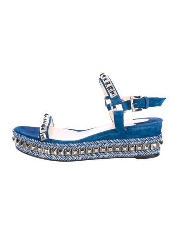 Christian Louboutin Cataclou 60 Wedge Sandals None