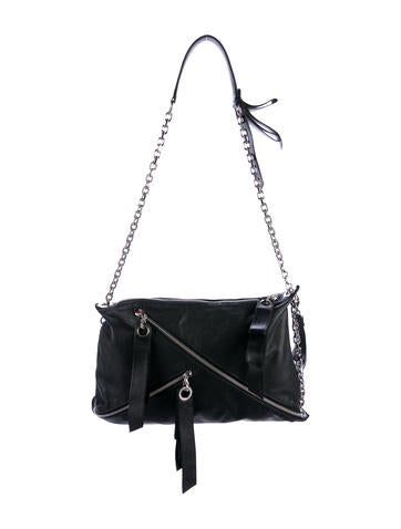 Christian Louboutin Leather Chain-Link Shoulder Bag None