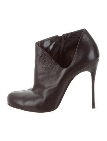 Christian Louboutin Leather d'Orsay Booties None