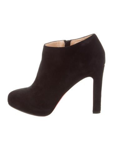Christian Louboutin Suede round-Toe Boots sale get authentic countdown package cheap price discount top quality GJxDJucS9R