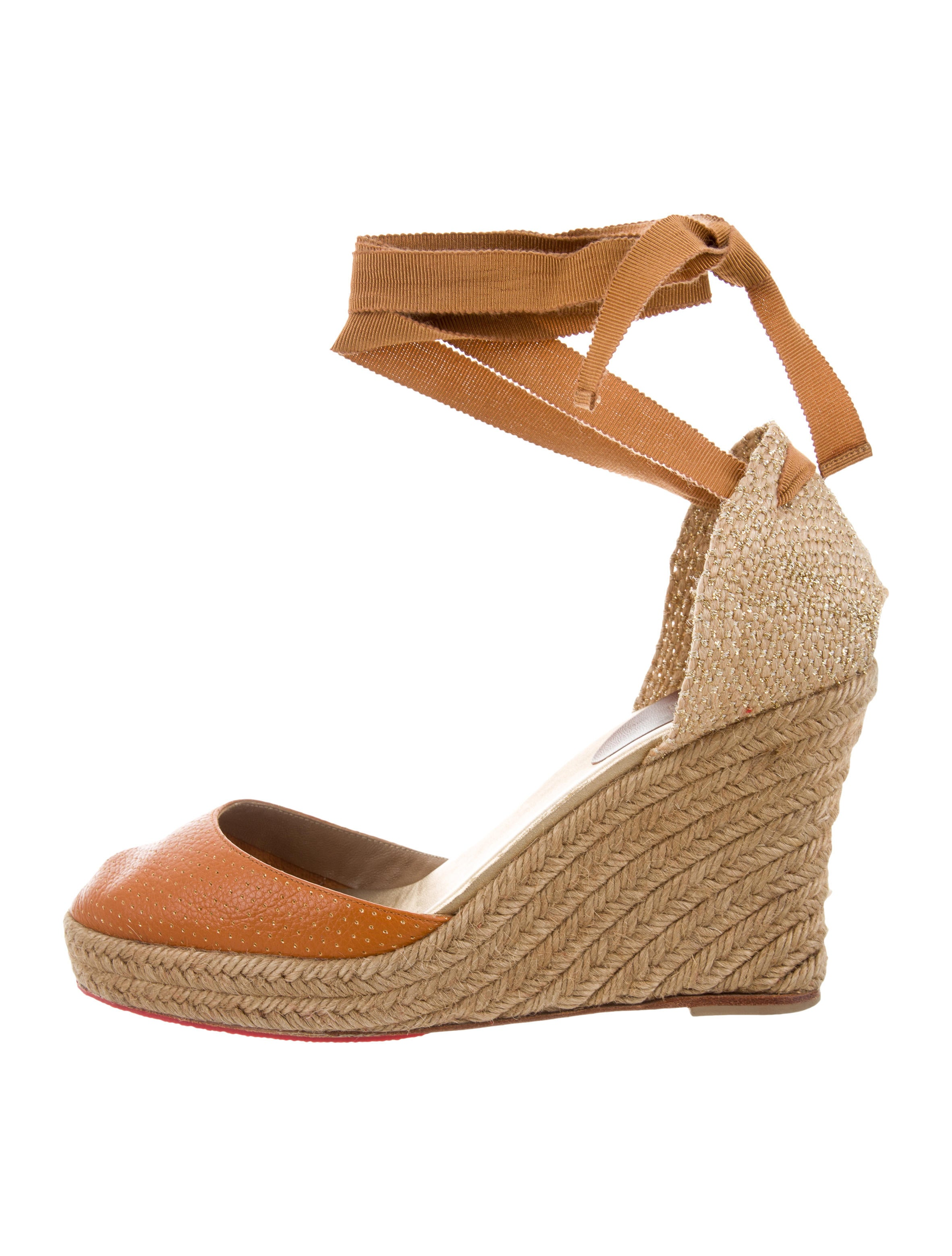 buy cheap outlet store cheap fake Christian Louboutin Lace-Up Espadrille Wedges with credit card online low shipping sale online Manchester sale online udjFU4