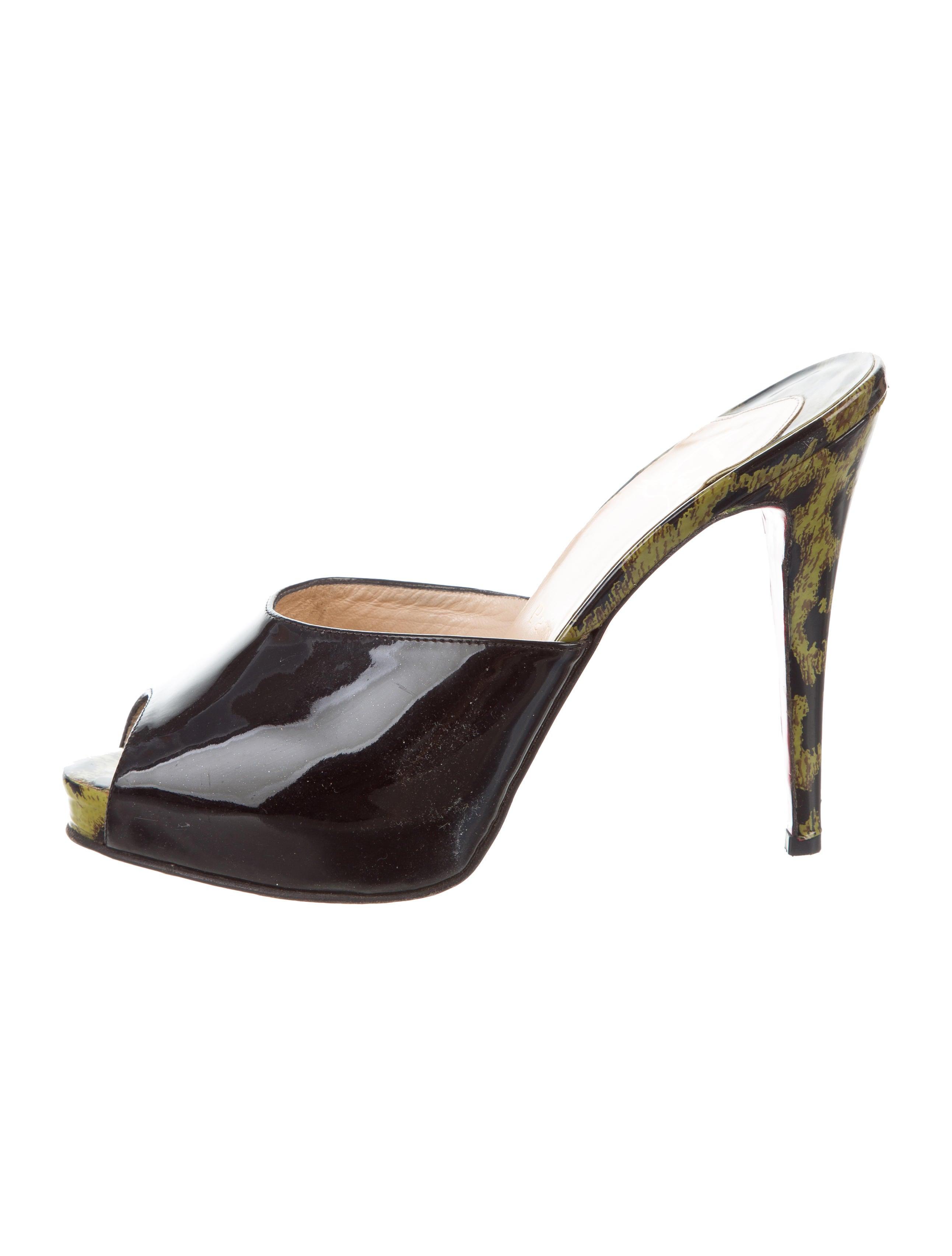 Christian Louboutin Patent Slide Sandals cheap sale visit new footlocker pictures cheap online K8R4E