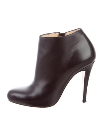 Christian Louboutin Leather Round-Toe Ankle Boots None