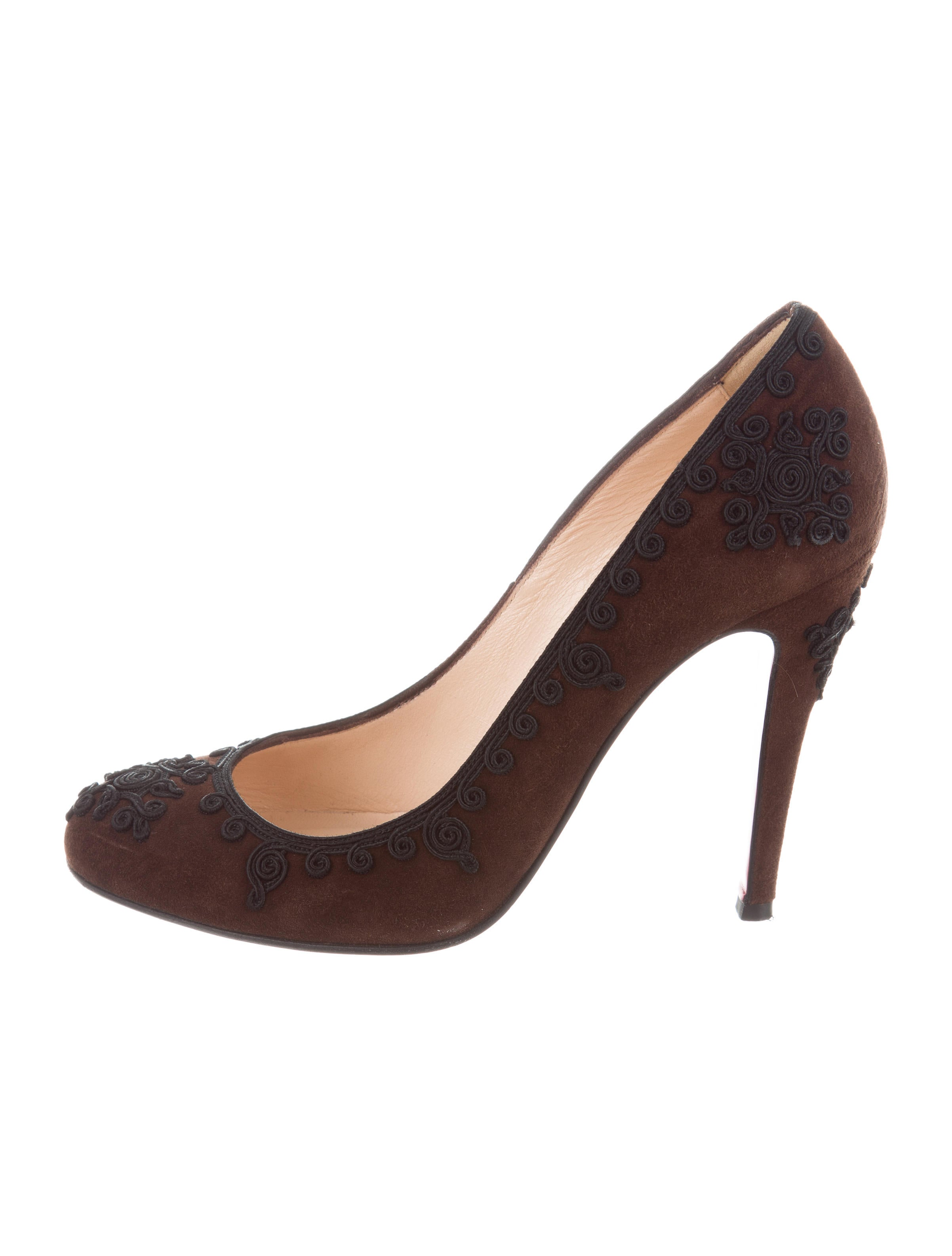 visa payment cheap online sale outlet store Christian Louboutin Suede Filigree Pumps DxAl2
