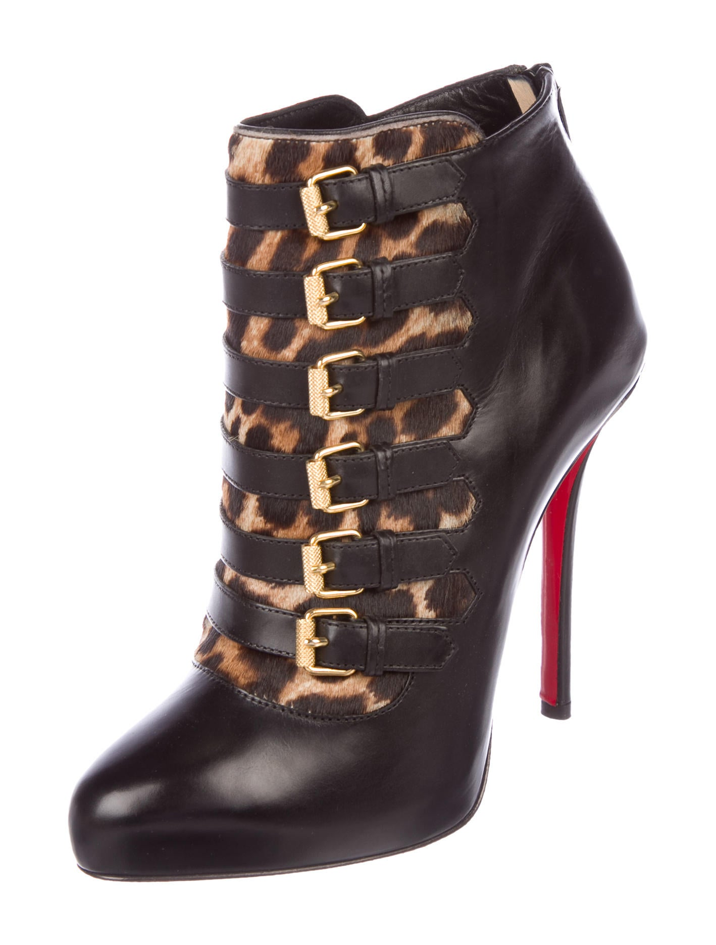 buy cheap low shipping fee Christian Louboutin Attroupee Buckle Booties w/ Tags discount free shipping cheap for sale cheap sale finishline PODyOma9i