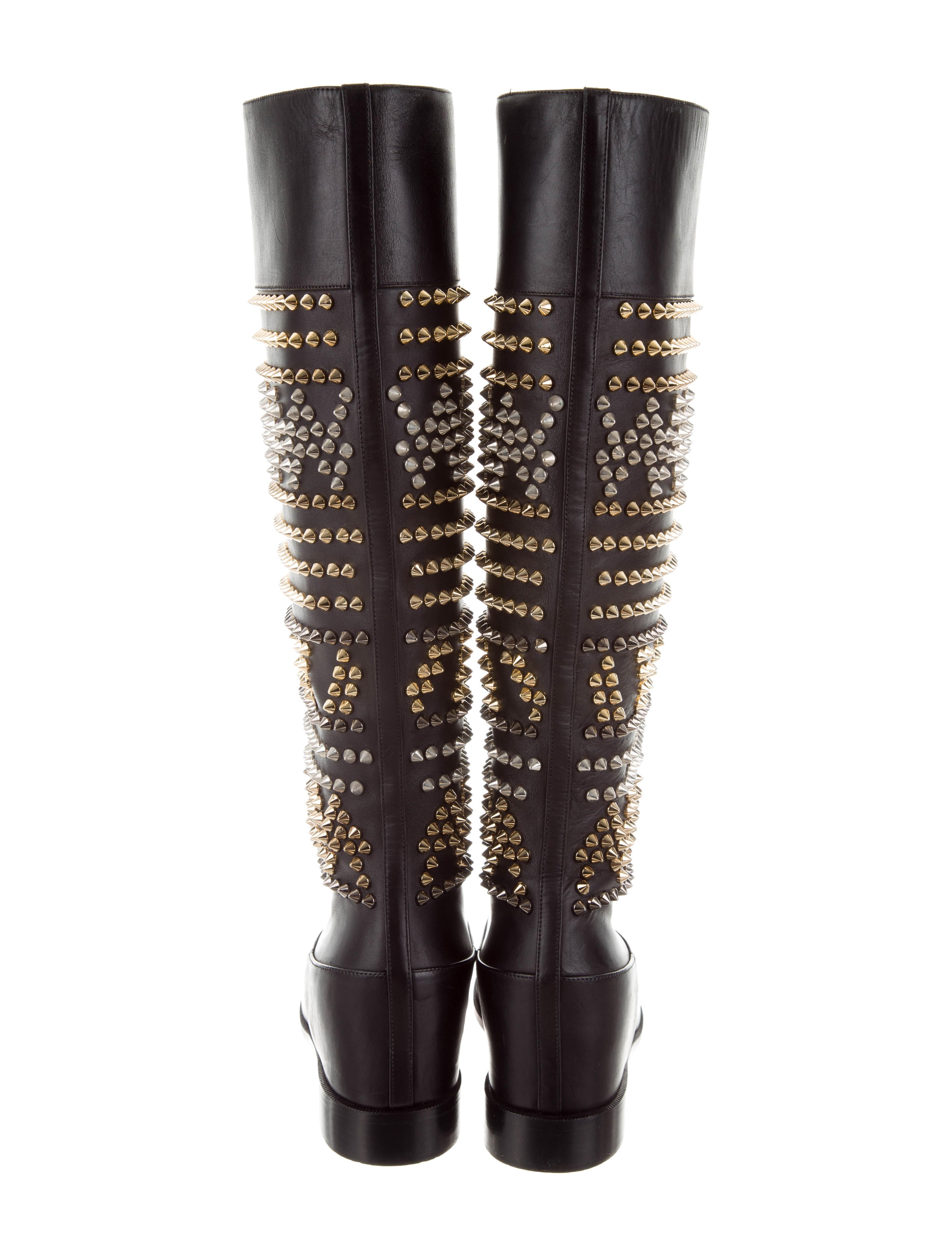 outlet pick a best sale pre order Christian Louboutin Leather Spiked Boots k6j5uH