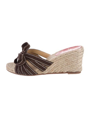 Christian Louboutin Suede Espadrille Wedges None
