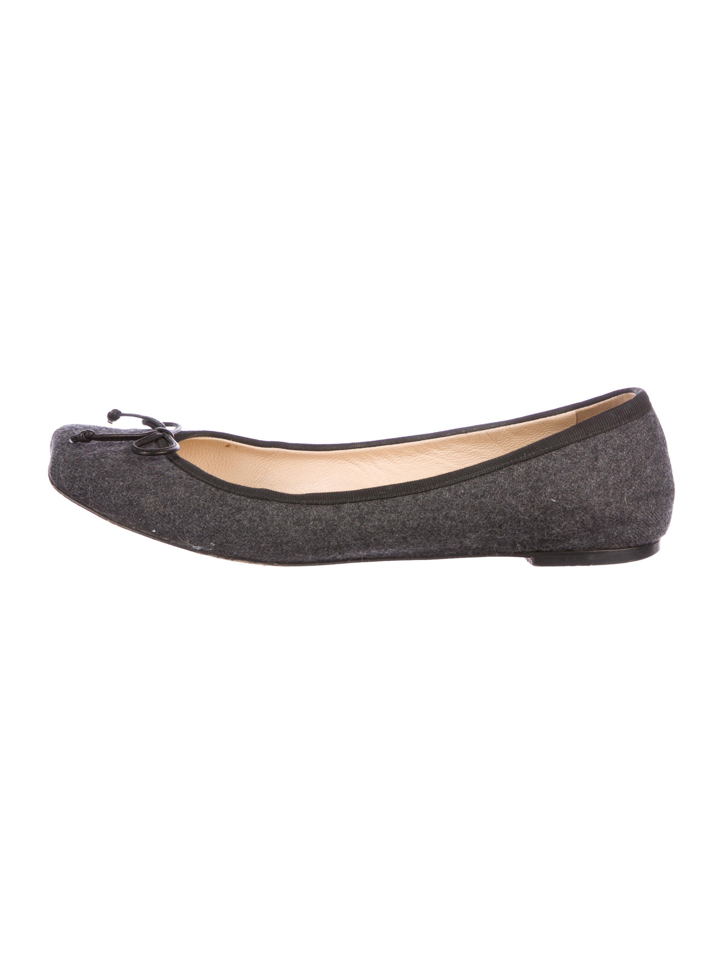 Christian Louboutin Felt Square-Toe Flats cheap sale 2014 best prices for sale cheap sale pick a best fashionable low price fee shipping sale online tCRg1