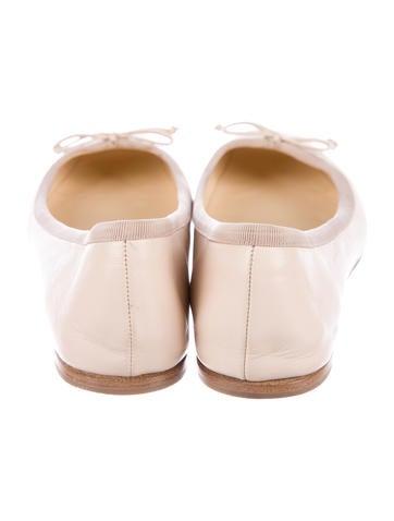 Leather Square-Toe Flats