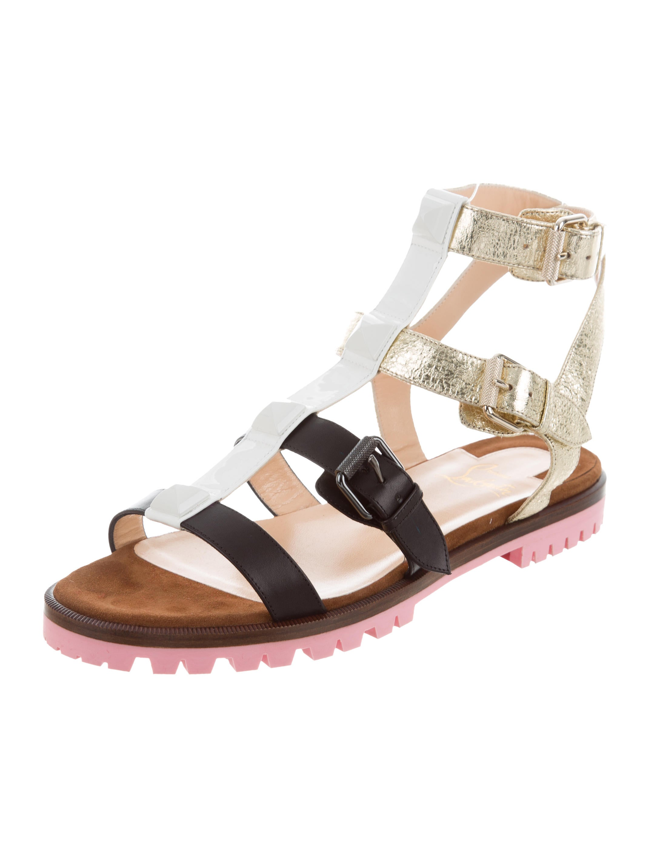 Christian Louboutin Rocknbuckle Multistrap Sandals w/ Tags outlet discount from china sale online outlet order online buy authentic online ldKB8g