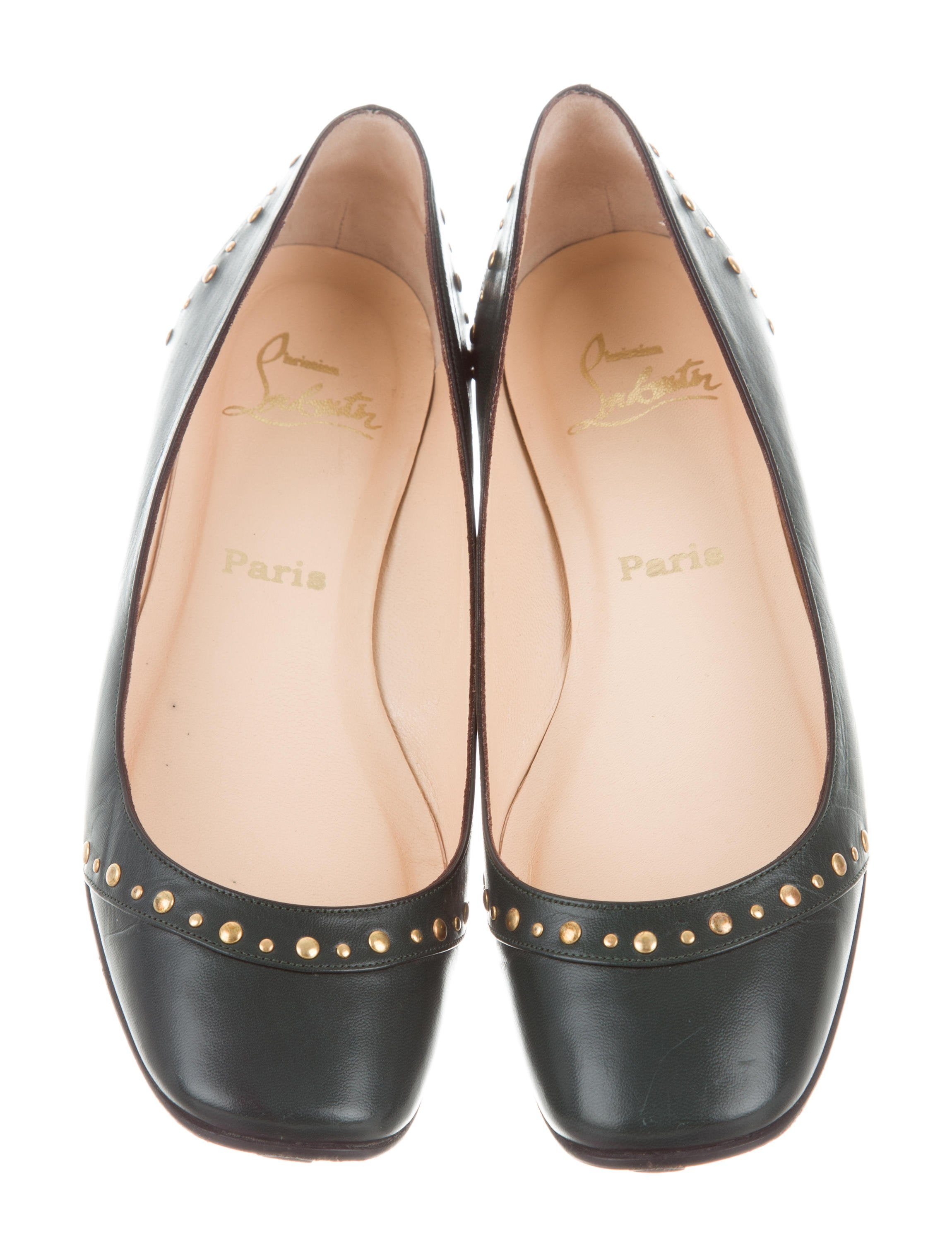 Christian Louboutin Embellished Round-Toe Flats discount codes clearance store buy cheap with credit card outlet with mastercard vJDA9tV