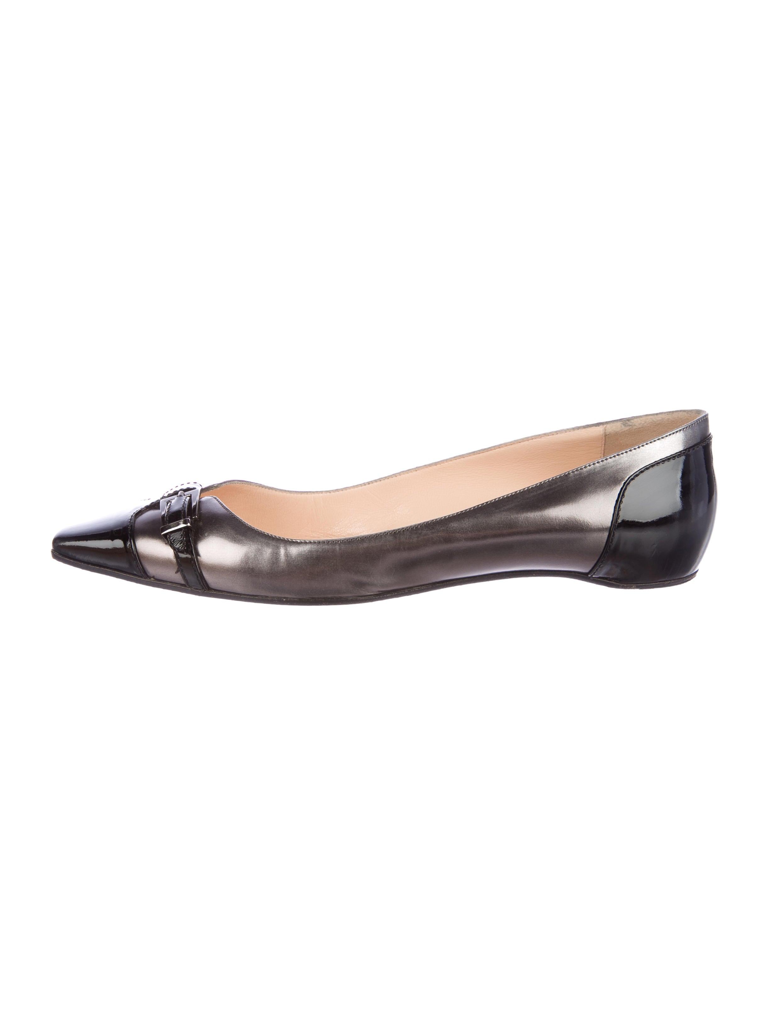 Christian Louboutin Serafina Square-Toe Flats discount shopping online E9e3cXvgsC