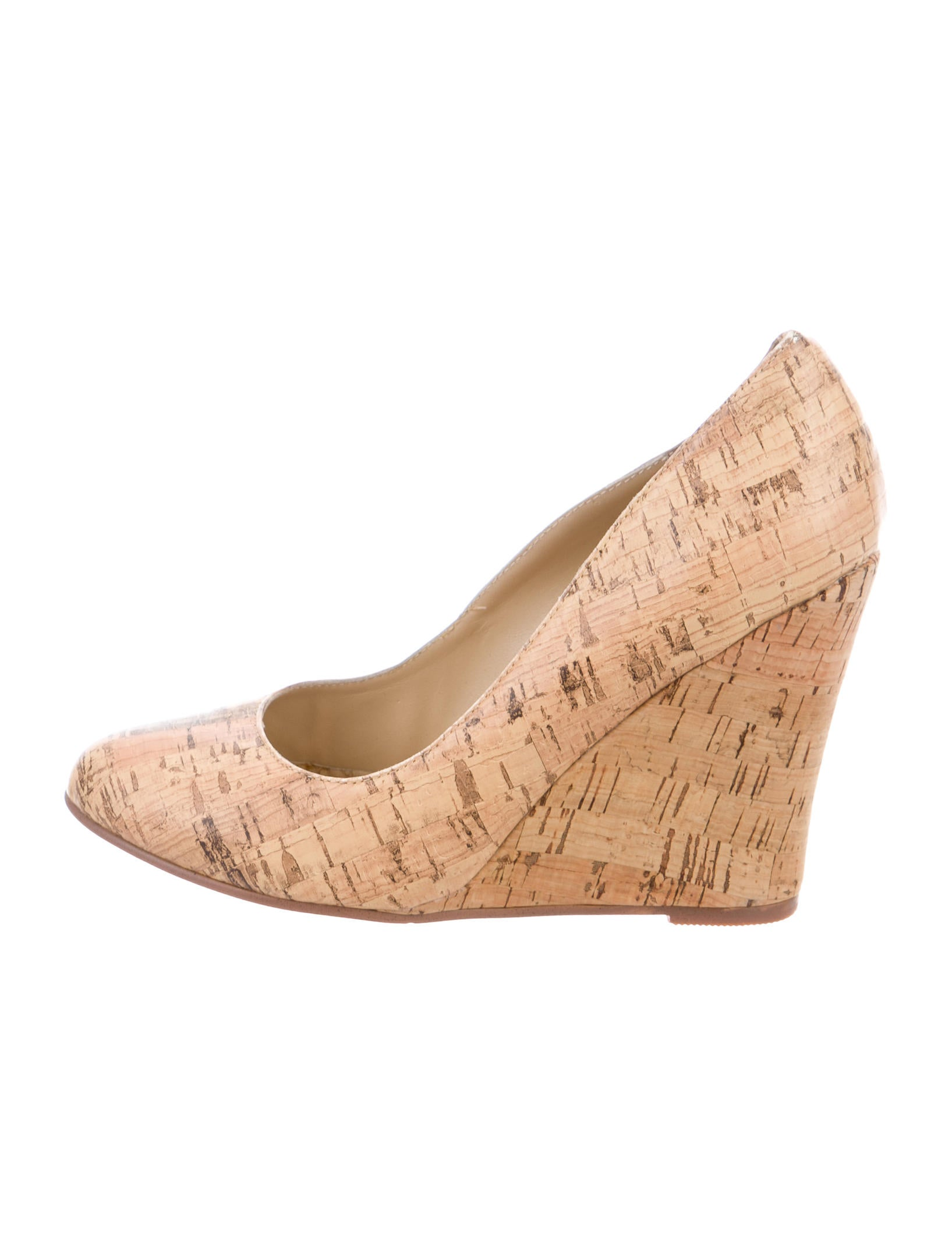 Christian Louboutin Cork Round-Toe Wedges discount best sale discount excellent ApW8Sgb0c