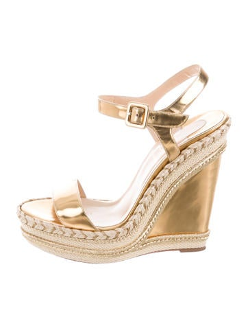 Christian Louboutin New Duplice Espadrille Wedges None