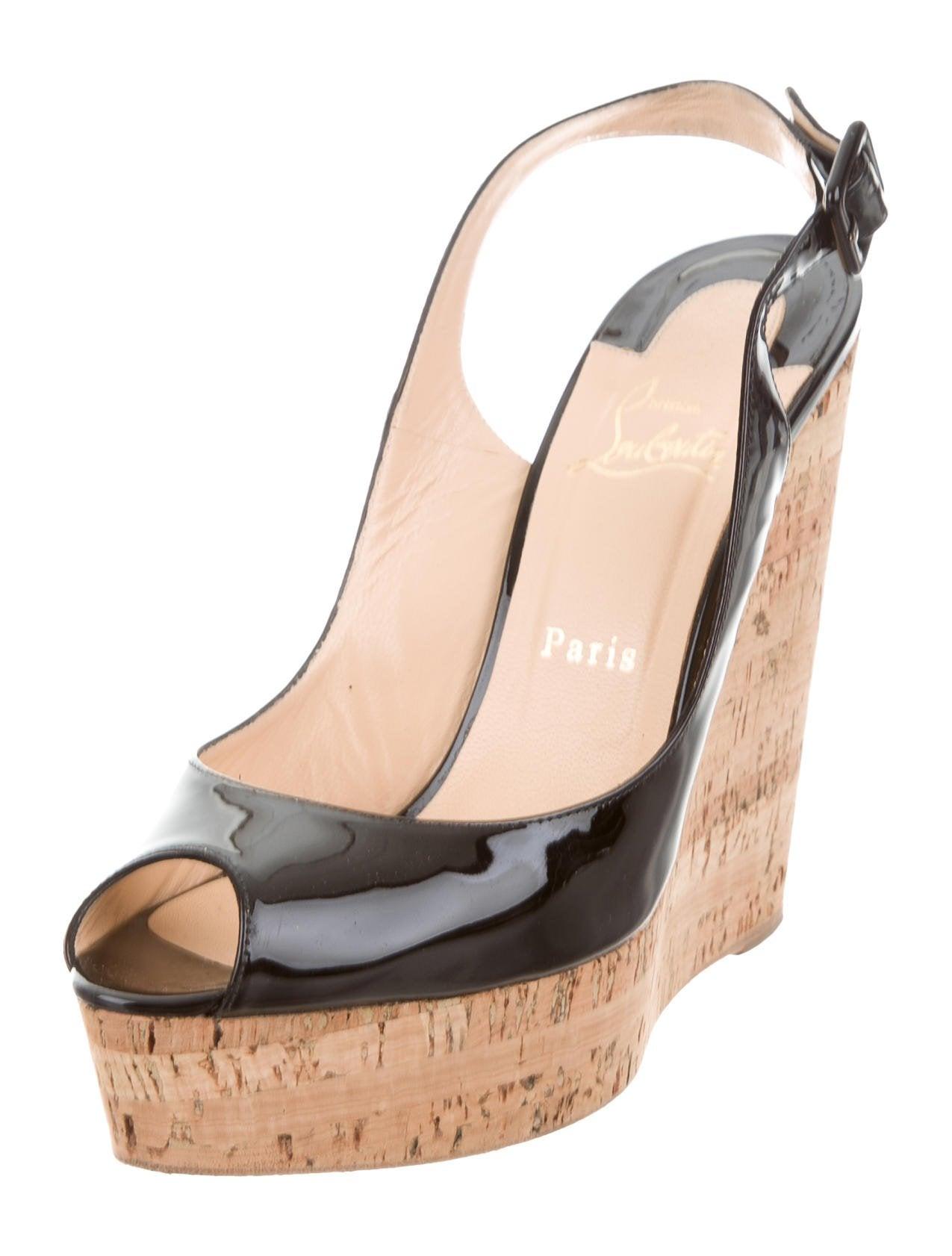wholesale dealer aead6 6bcf2 Christian Louboutin Une Plume Slingback Wedges - Shoes ...