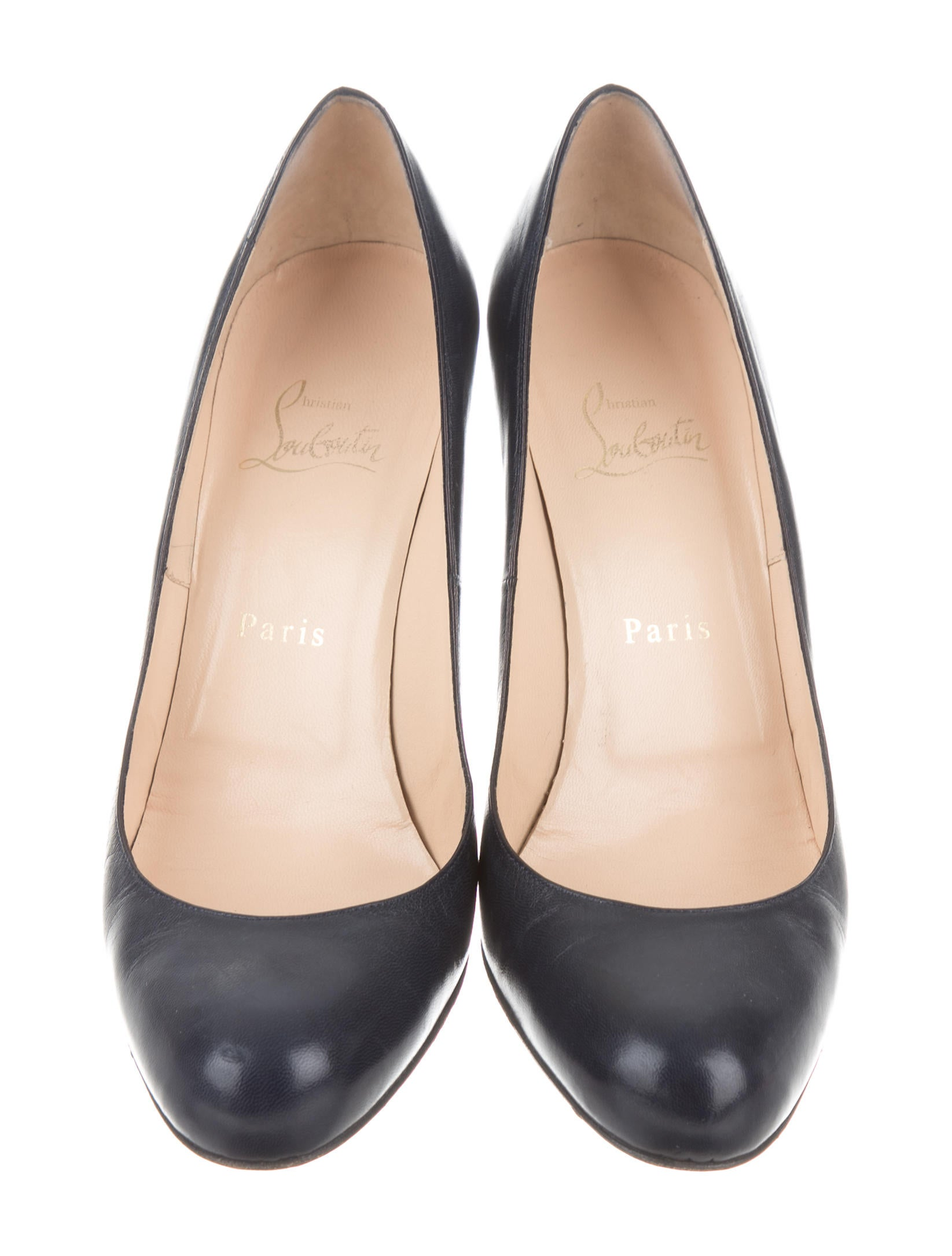 Christian Louboutin Leather Semi Pointed-Toe Flats buy cheap popular discount new styles TdvJKY