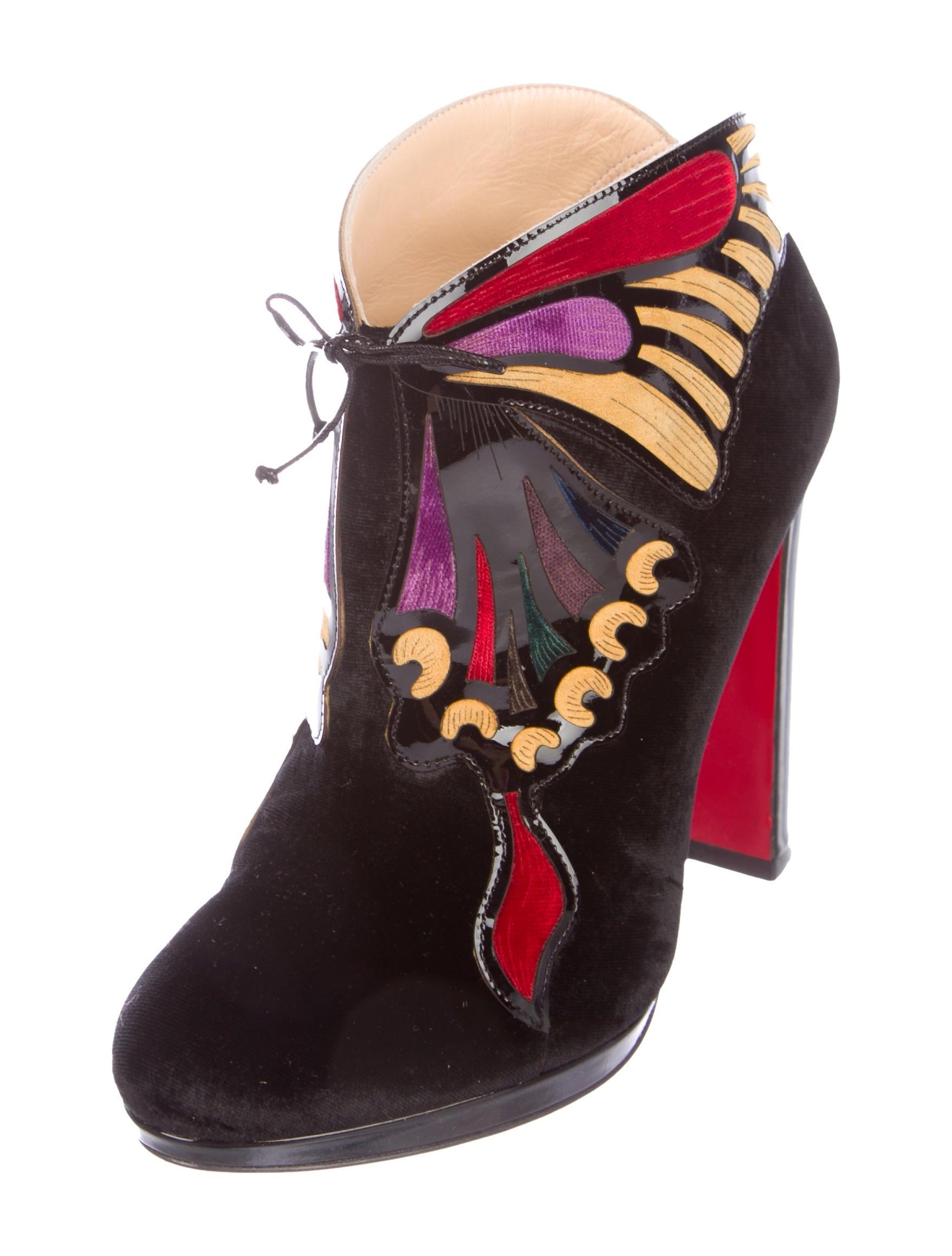 Christian Louboutin Mariposa 120 Velvet Ankle Boots clearance latest auVyD