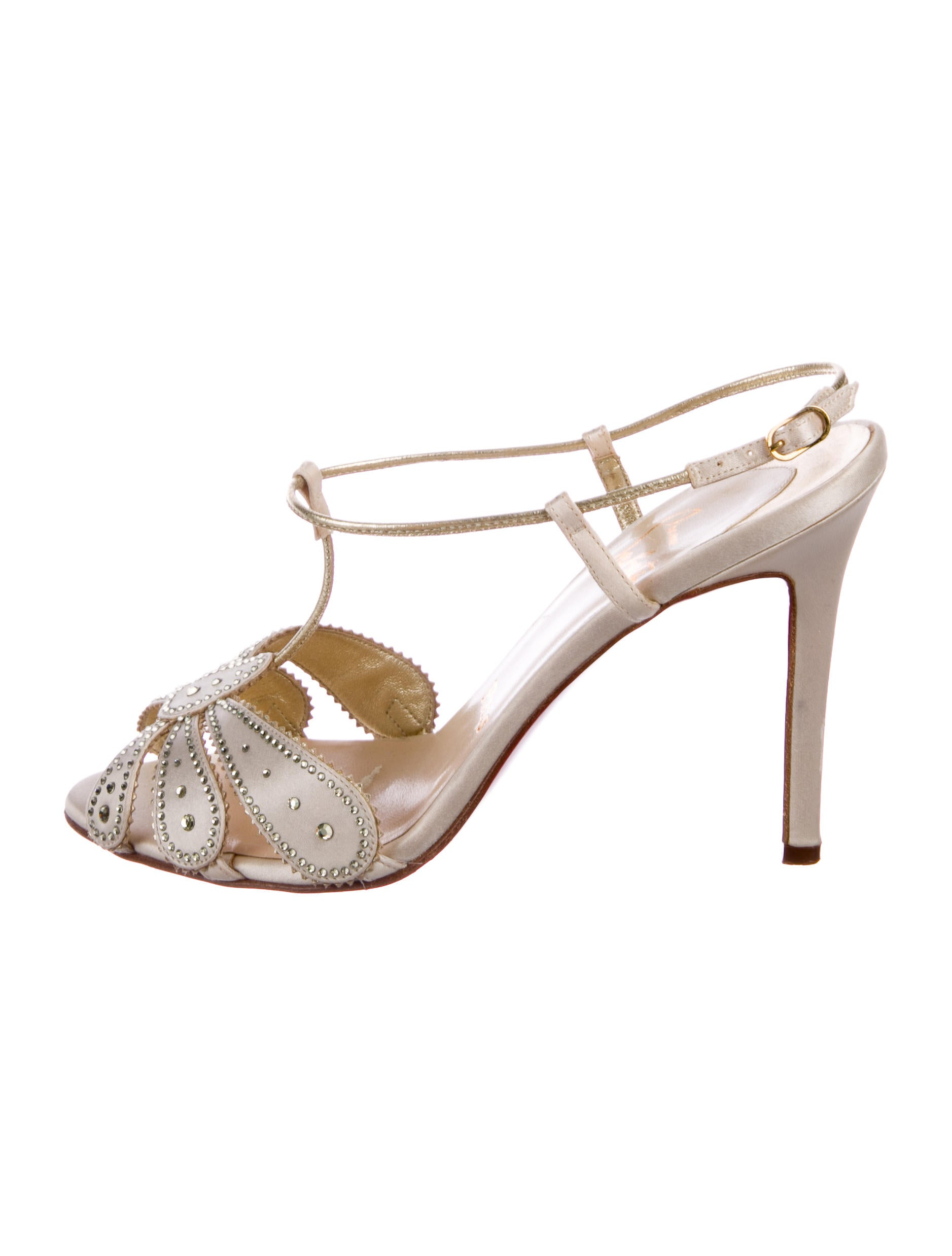 Christian Louboutin Satin Embellished Sandals best sale cheap price free shipping latest collections free shipping pick a best 5V2DXbr7bk