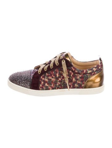 Christian Louboutin Gondola Strass Low-Top Sneakers w/ Tags None