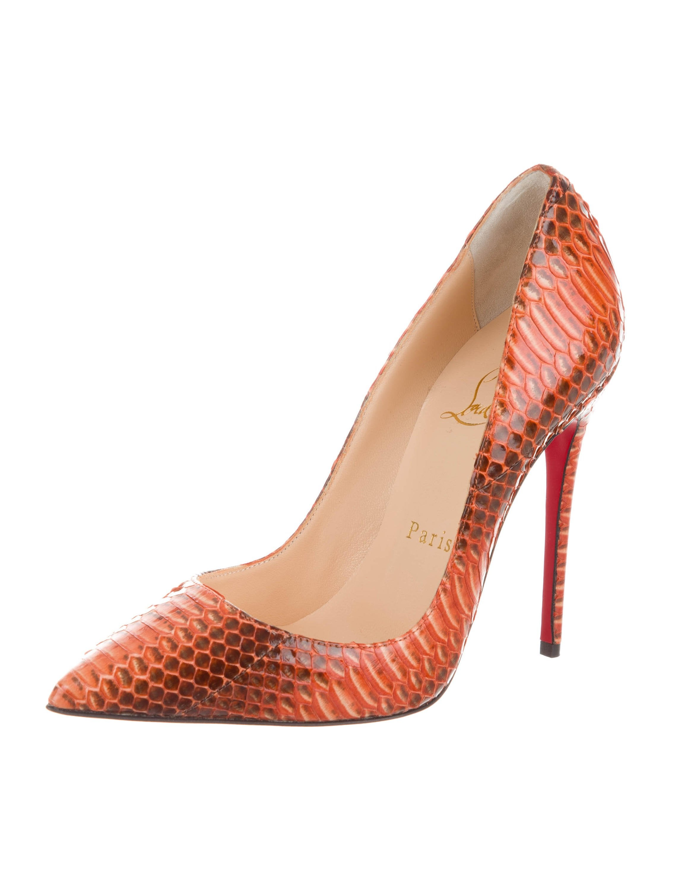 2014 new cheap price buy cheap with mastercard Christian Louboutin Snakeskin Peep-Toe Pumps w/ Tags fast delivery online clearance footlocker finishline Toxdl