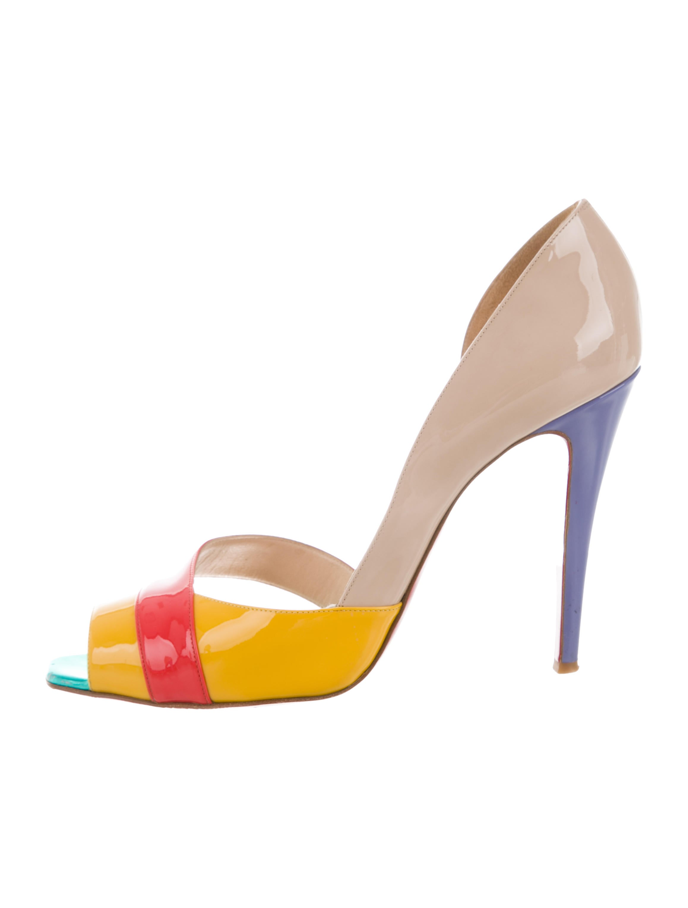 buy cheap finishline Christian Louboutin Escadre Peep-Toe Pumps cheap sale prices 20yD4baJy