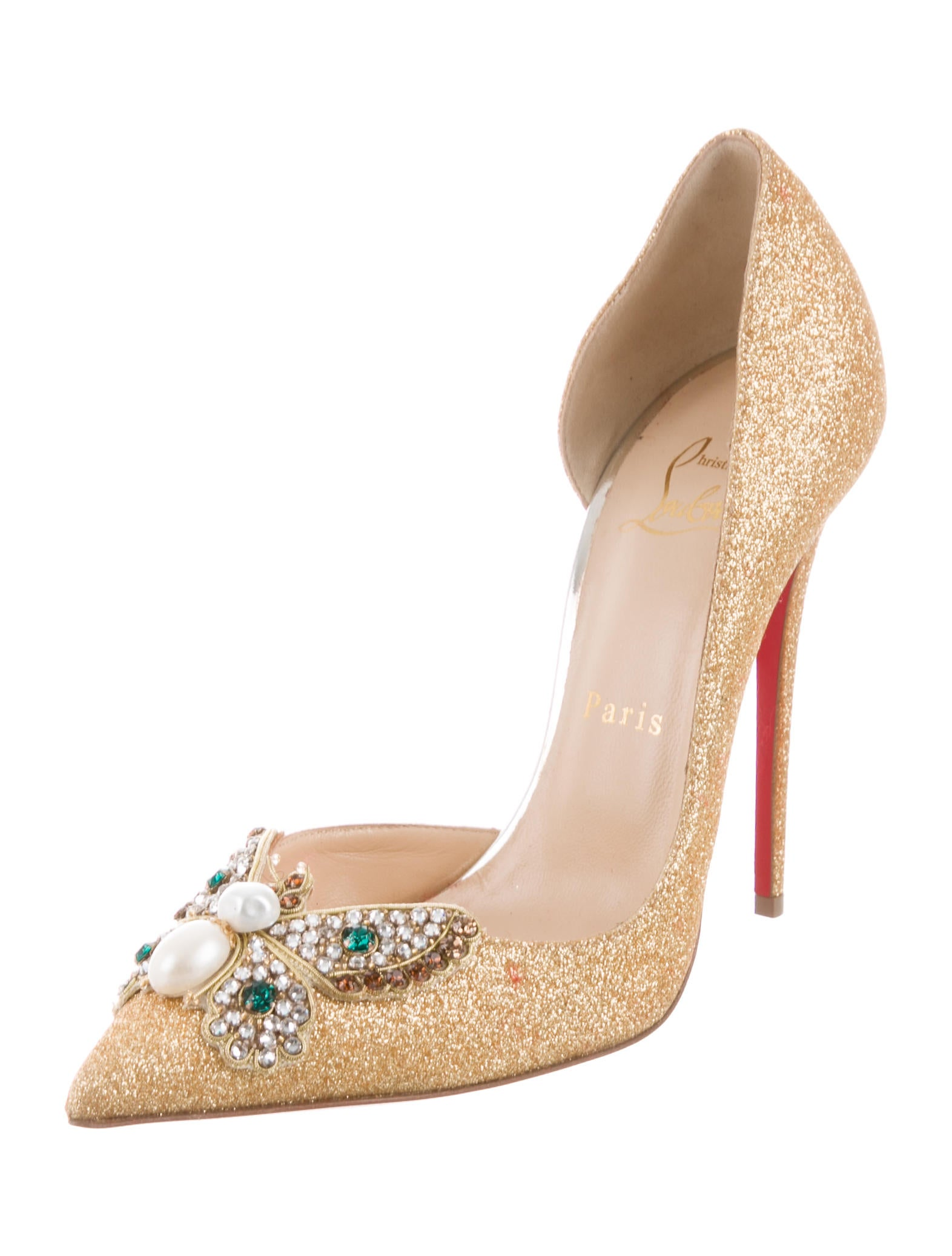 Christian Louboutin Barzas Butterfly-Accented Pumps the cheapest for sale discount wide range of for sale official site 4HP04