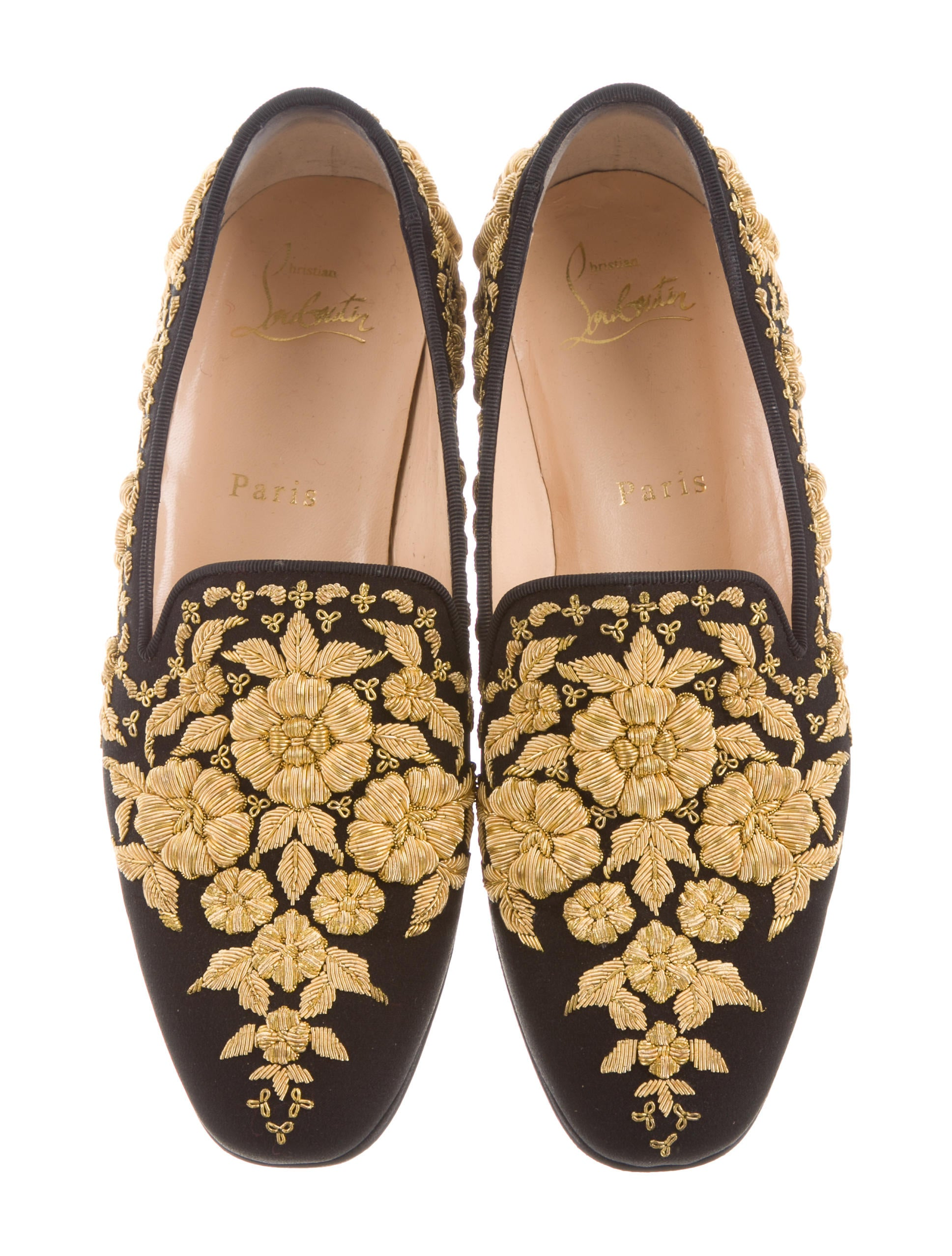 comfortable cheap online outlet limited edition Christian Louboutin Academica Floral Loafers store cheap online 100% authentic IuIoazDvbT