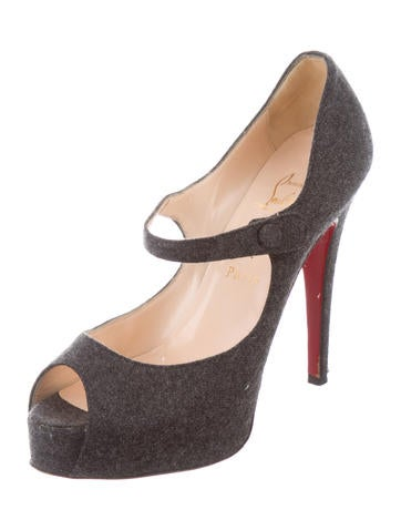 louboutin mary jane peep toe