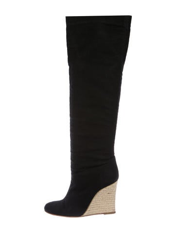 Christian Louboutin Canvas Over-The-Knee Boots None