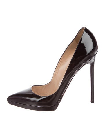 Christian Louboutin Patent Pointed-Toe Pumps None